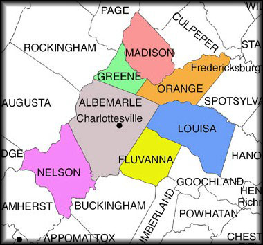 Charlottesville Virginia Counties